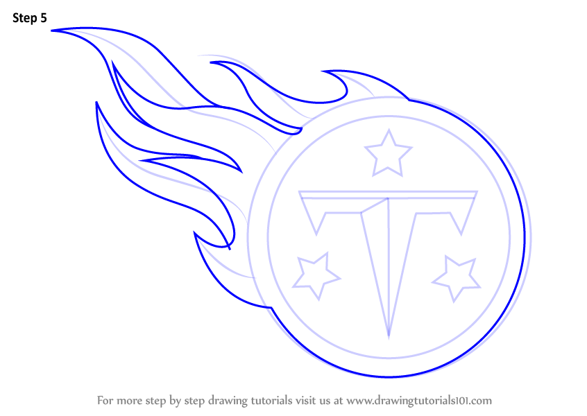 Learn how to draw tennessee titans logo nfl step by step for Draw my logo