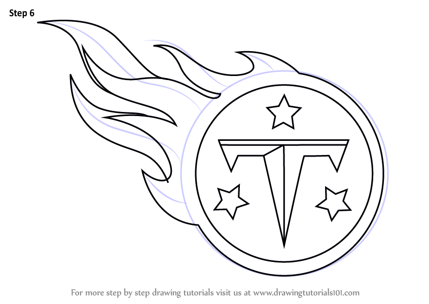 Learn How To Draw Tennessee Titans Logo Nfl Step By Step
