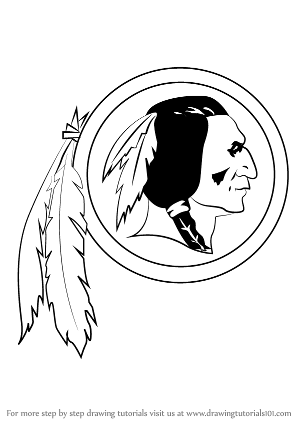 Learn how to draw washington redskins logo nfl step by step learn how to draw washington redskins logo nfl step by step drawing tutorials voltagebd