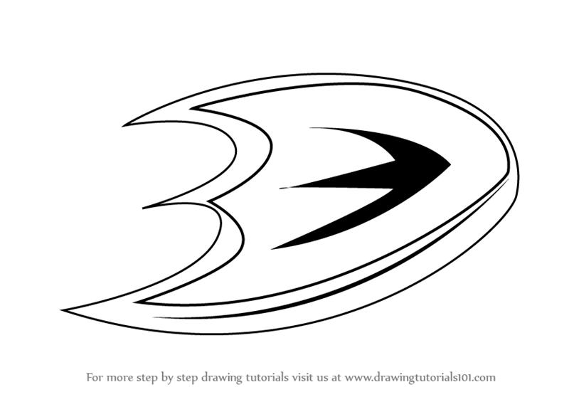 Learn How To Draw Anaheim Ducks Logo Nhl Step By Step