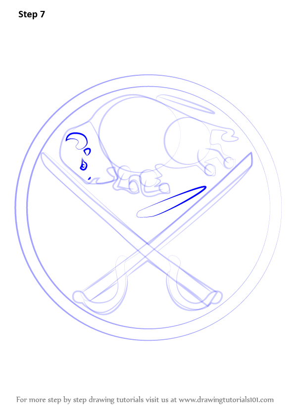 Learn How To Draw Buffalo Sabres Logo Nhl Step By Step