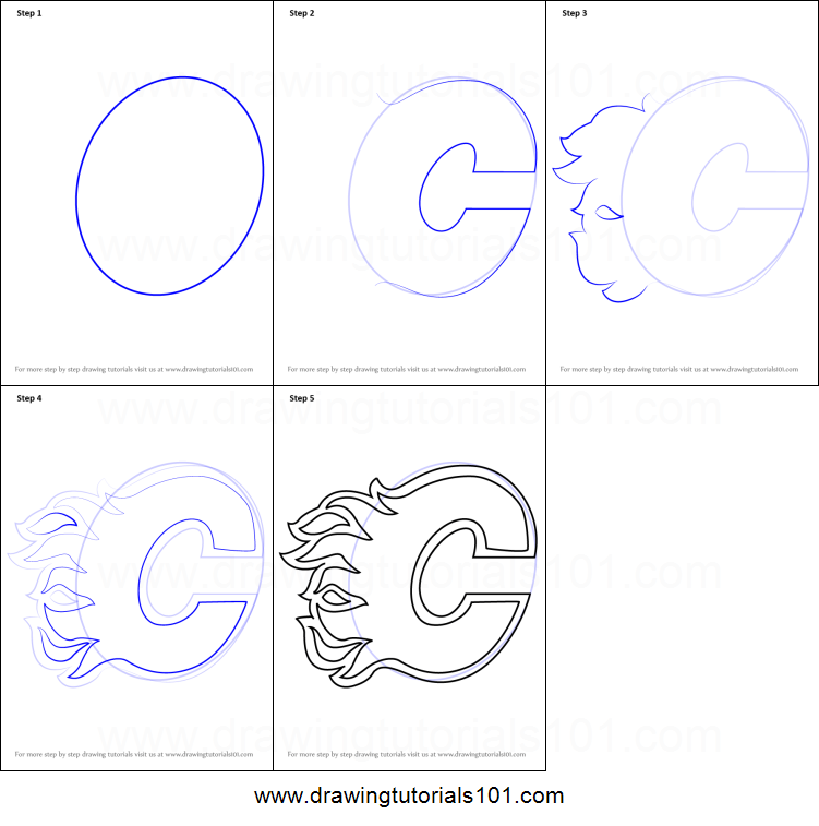 picture about Printable Flames named How toward Attract Calgary Flames Emblem printable phase by way of stage