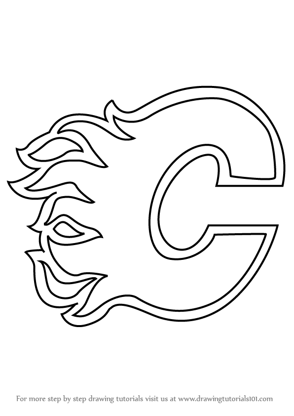calgary flames logo coloring pages - photo#4