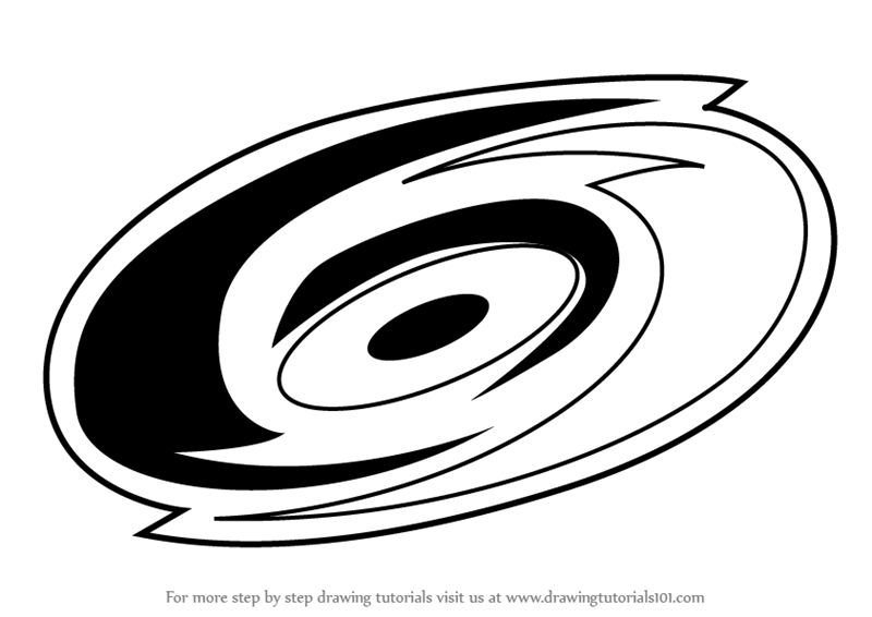 Learn How to Draw Carolina Hurricanes Logo (NHL) Step by ...