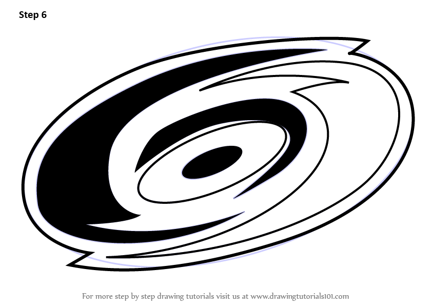 Learn How To Draw Carolina Hurricanes Logo Nhl Step By