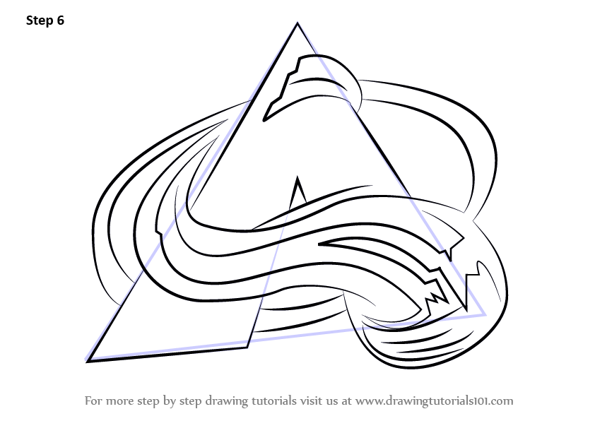 Learn How To Draw Colorado Avalanche Logo Nhl Step By