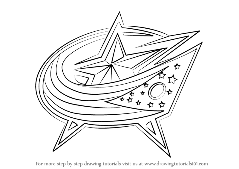 columbus blue jackets coloring pages - photo#3