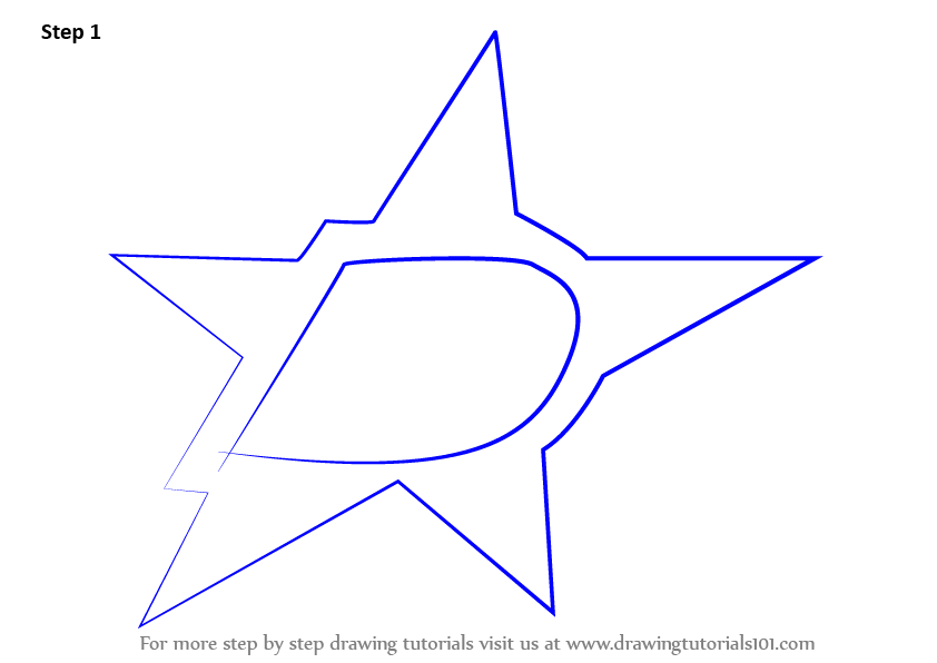 how to draw a dallas cowboys star