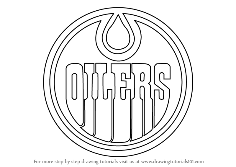 Step By Step How To Draw Edmonton Oilers Logo