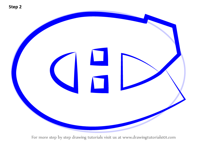 Learn how to draw montreal canadiens logo nhl step by for Draw my logo