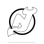 How to Draw New Jersey Devils Logo