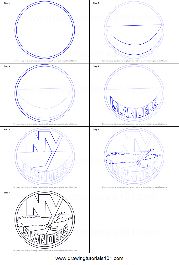 How To Draw New York Islanders Logo Printable Step By Step Drawing