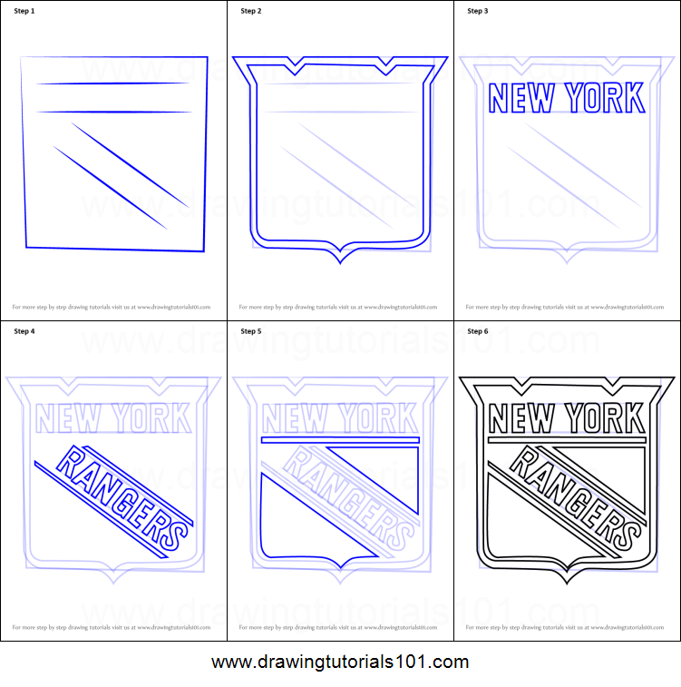 photograph about New York Rangers Printable Schedule called How in direction of Attract Fresh new York Rangers Symbol printable stage via action