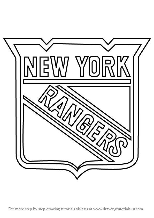 New york rangers logo coloring pages ~ Learn How to Draw New York Rangers Logo (NHL) Step by Step ...