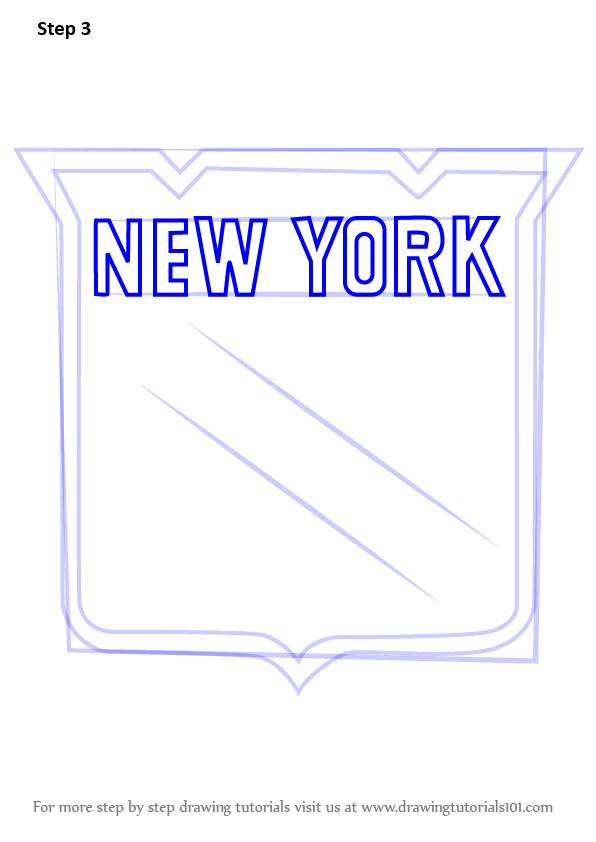 Coloring pages new york rangers