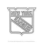 How to Draw New York Rangers Logo