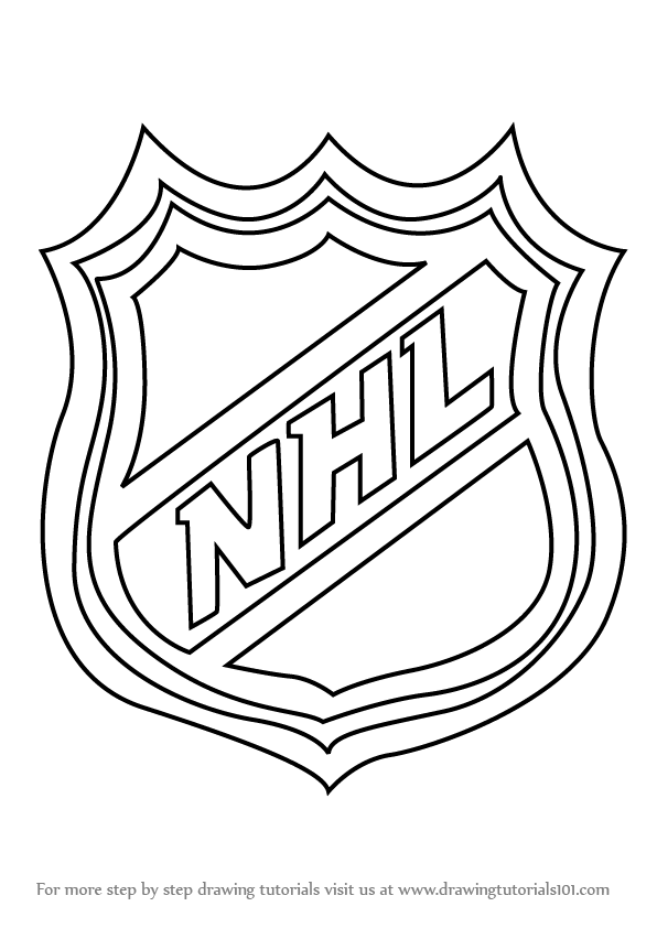 Learn how to draw nhl logo nhl step by step drawing for Draw logo free