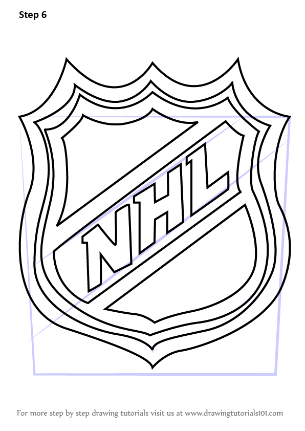 Learn How to Draw NHL Logo (NHL) Step by Step : Drawing ...