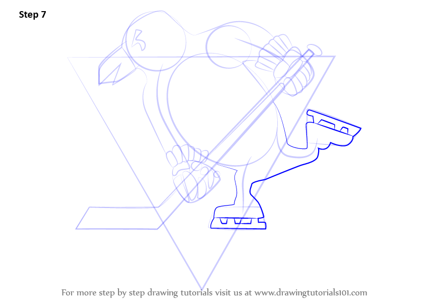Learn How To Draw Pittsburgh Penguins Logo Nhl Step By Step