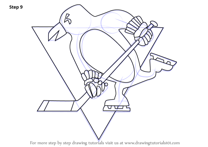 Learn How to Draw Pittsburgh Penguins