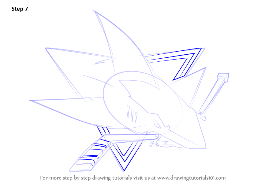 Learn How To Draw San Jose Sharks Logo Nhl Step By Step
