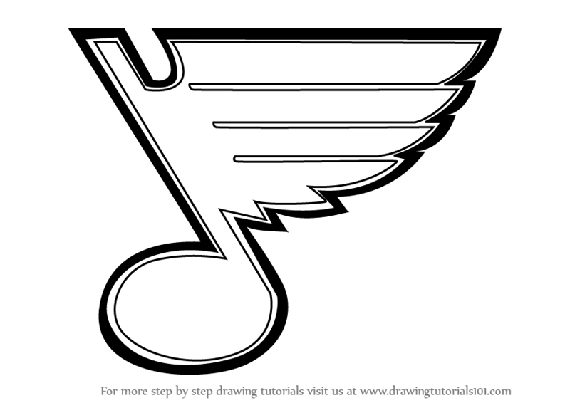 How To Draw St Louis Blues Logo