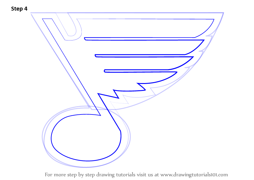 Learn How To Draw St Louis Blues Logo Nhl Step By Step