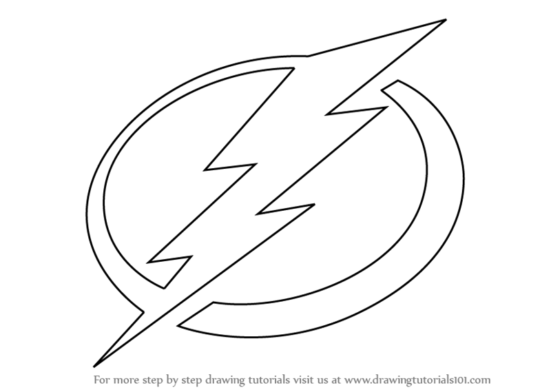 Learn How to Draw T&a Bay Lightning Logo (NHL) Step by Step  Drawing Tutorials  sc 1 st  Drawing Tutorials & Learn How to Draw Tampa Bay Lightning Logo (NHL) Step by Step ... azcodes.com