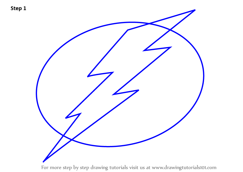Learn How to Draw Tampa Bay Lightning Logo (NHL) Step by