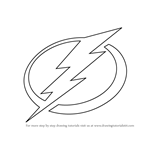 How to Draw Tampa Bay Lightning Logo