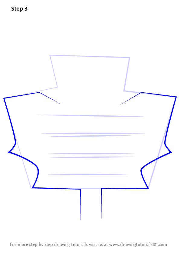 learn how to draw toronto maple leafs logo nhl step by