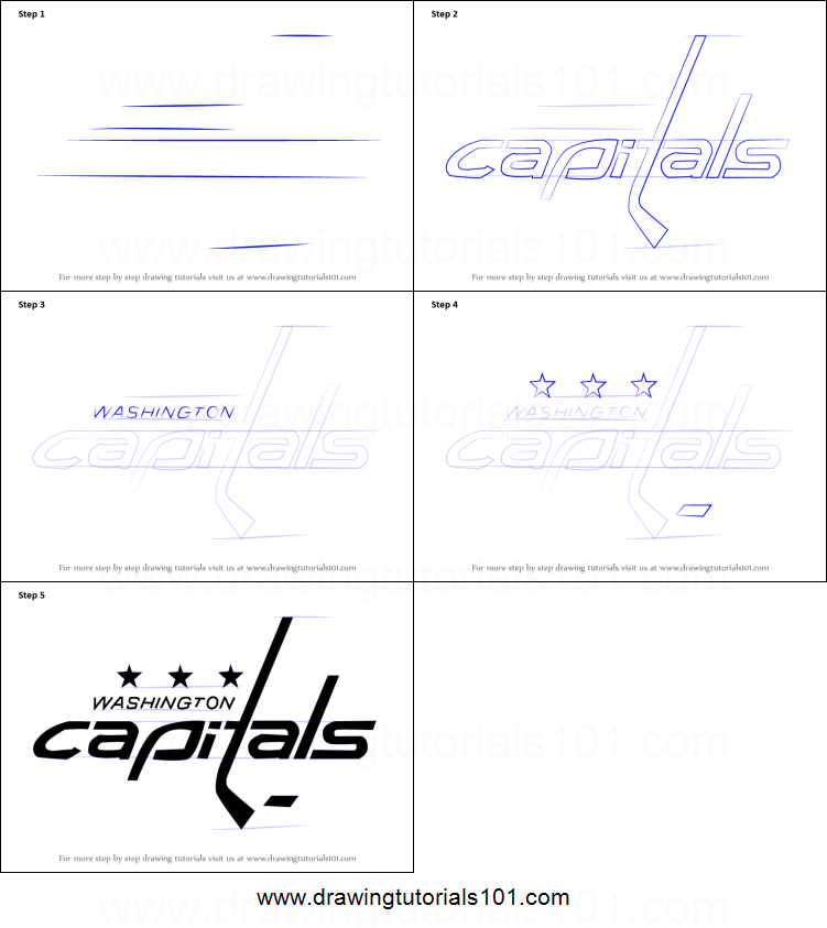 photograph regarding Washington Capitals Schedule Printable titled How in the direction of Attract Washington Capitals Brand printable phase via move