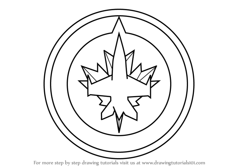 Jets helmet coloring pages ~ Black And White Winnipeg Jets Pictures to Pin on Pinterest ...