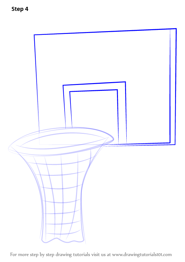 Basketball hoop drawing