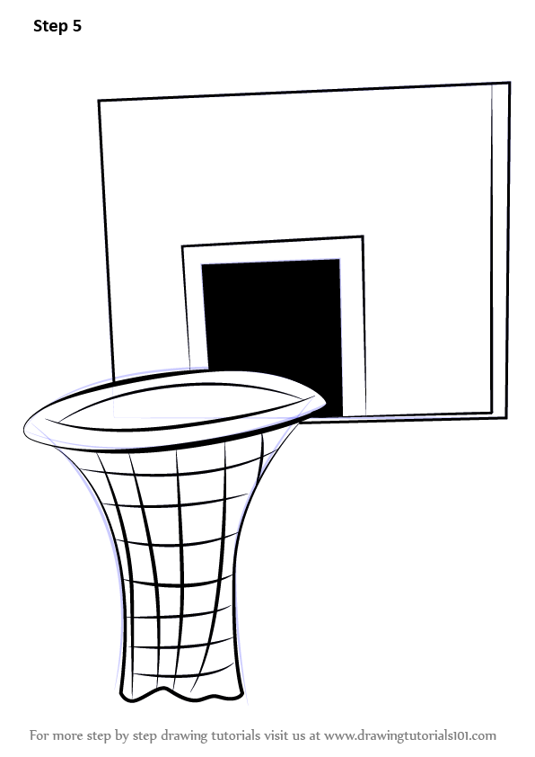 Learn How To Draw Basketball Hoop Other Sports Step By