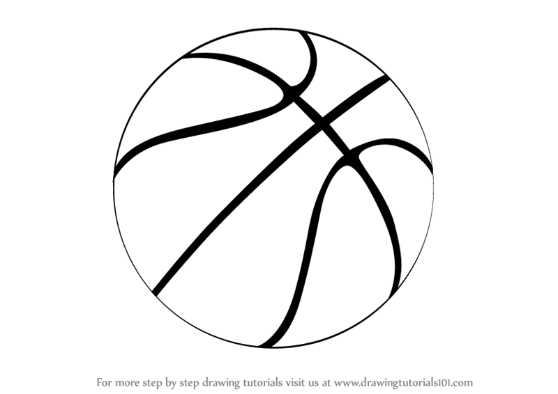 A Drawing Of A Basketball
