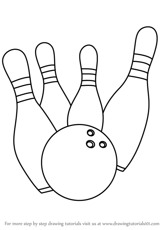 Learn How to Draw Bowling Pins (Other Sports) Step by Step