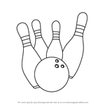 How to Draw Bowling Pins