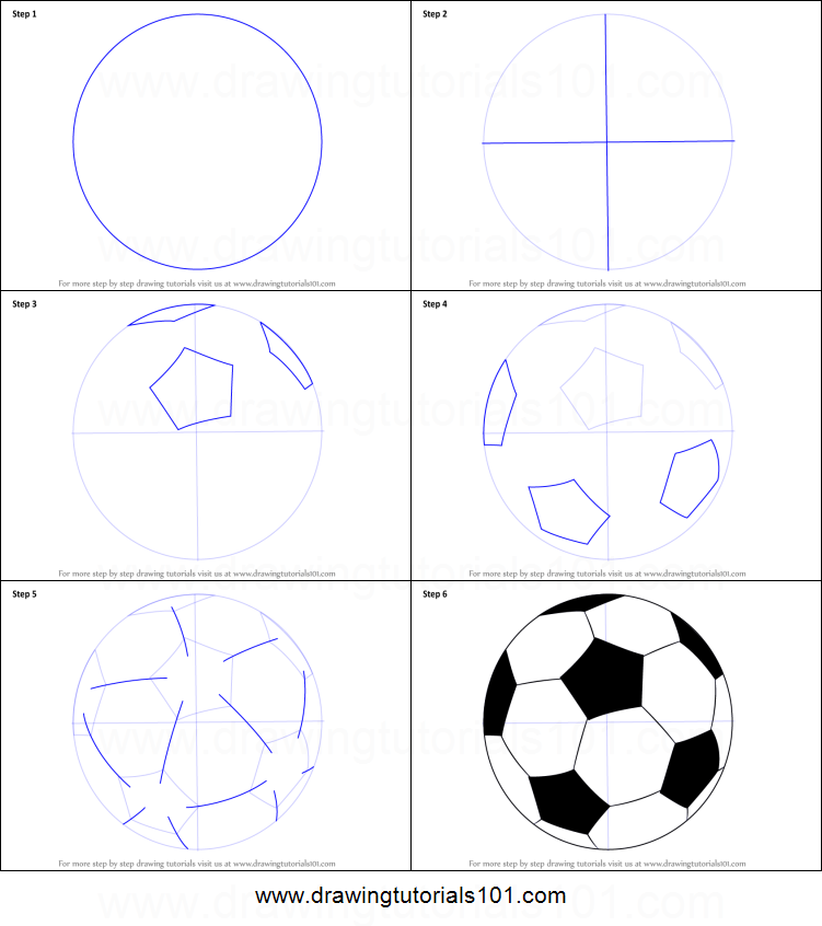 How To Draw A Football Printable Step By Step Drawing Sheet