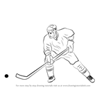 How to Draw Ice Hockey Player