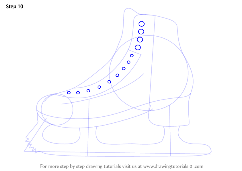 Learn How to Draw Ice Skates (Other Sports) Step by Step : Drawing ...