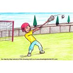 How to Draw a Lacrosse Sport Scene