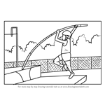 How to Draw a Pole Vaulter