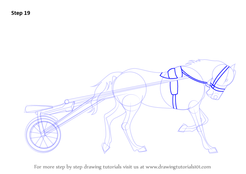 Step by step how to draw racing horse cart drawingtutorials101 signup for free weekly drawing tutorials ccuart Choice Image