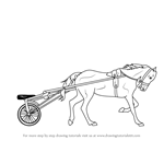 How to Draw Racing Horse Cart