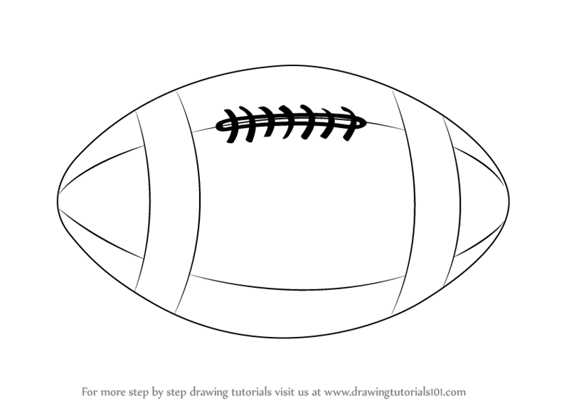 Learn How To Draw A Rugby Ball Other Sports Step By Step Drawing Tutorials