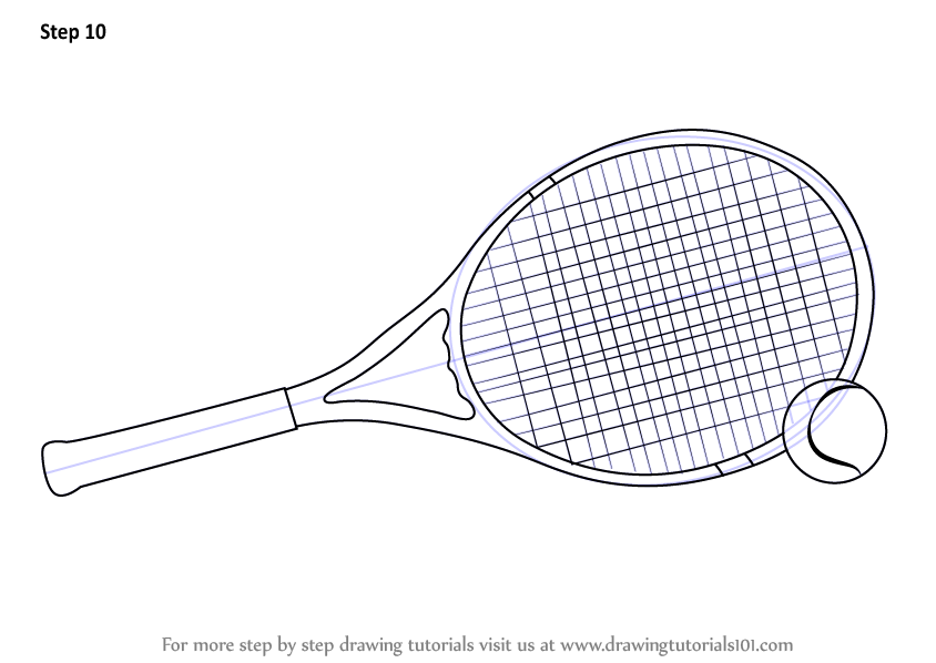 Learn How To Draw Tennis Racket And Ball Other Sports