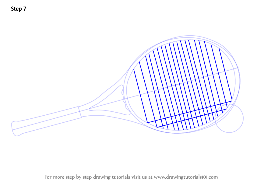 Learn How To Draw Tennis Racket And Ball Other Sports Step By Step