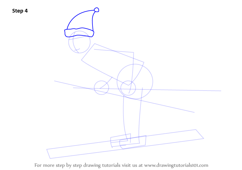 how to draw winter season step by step