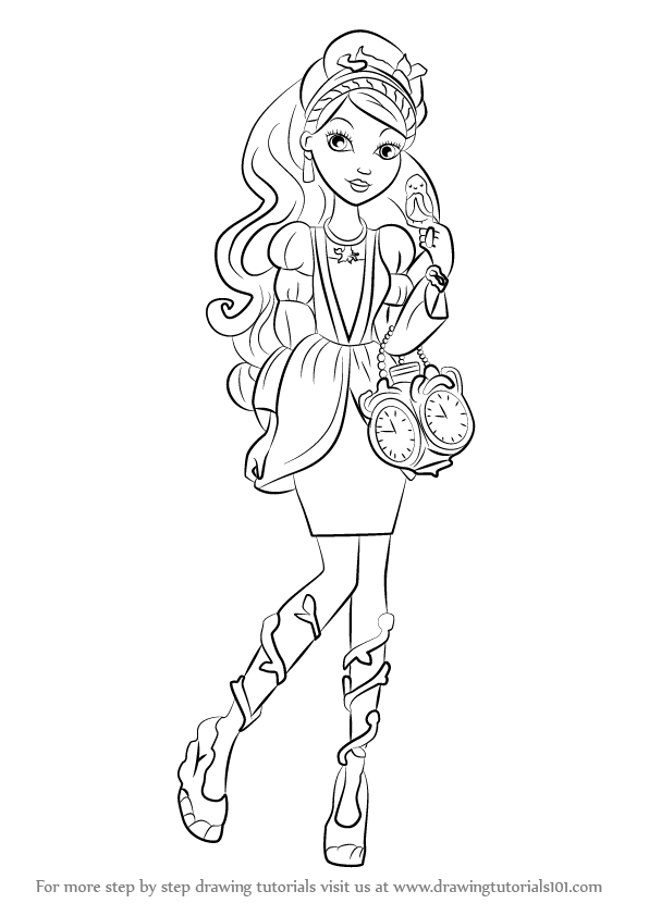 Learn how to draw ashlynn ella from ever after high ever for Ella coloring pages